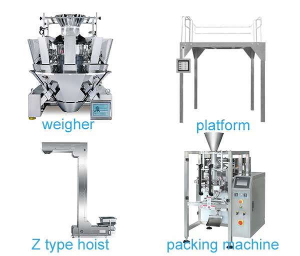 potato chips packing machine composition