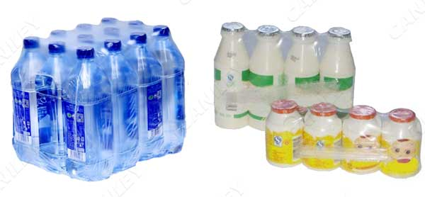 bottles shrink wrap machine samples