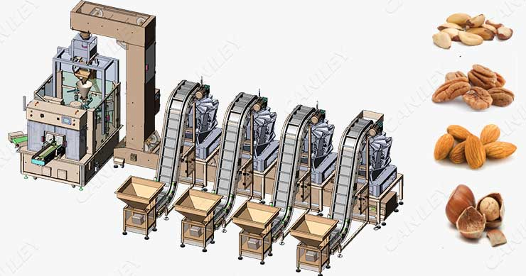 nut packing line
