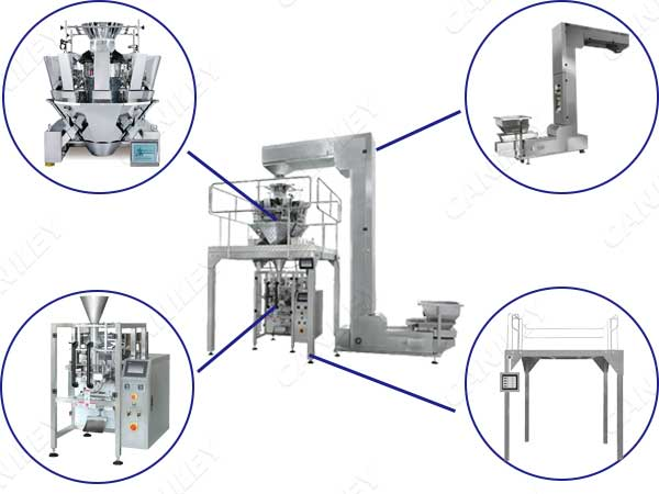Automatic bag weighing and filling machine and