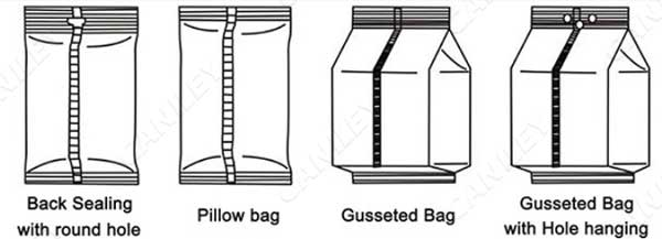 types of packing bag