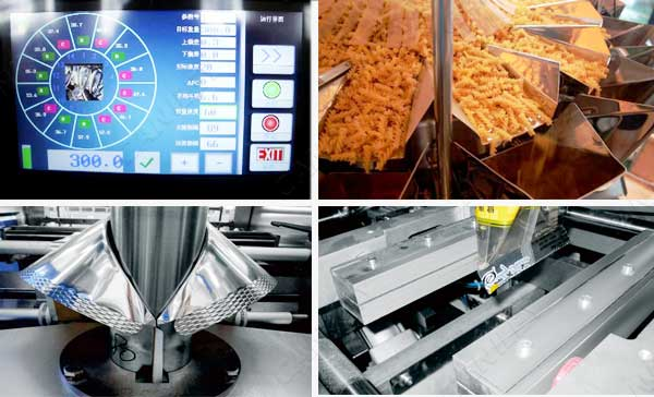 chips packing machine with nitrogen