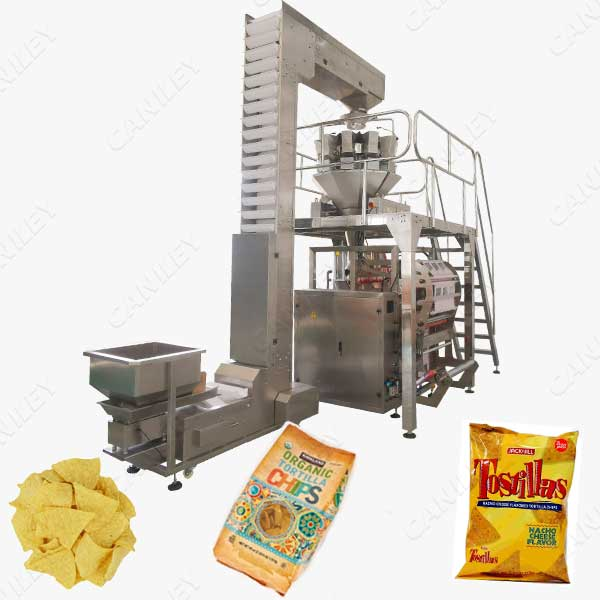 tortilla chips packing machine
