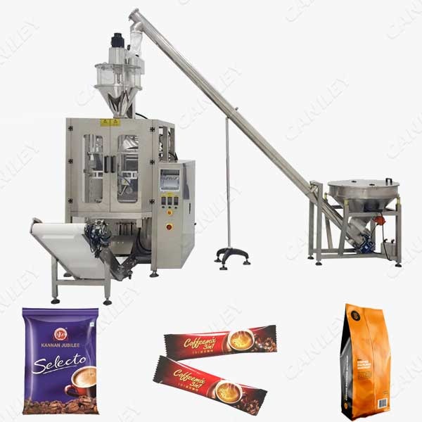 Ground coffee packaging machine