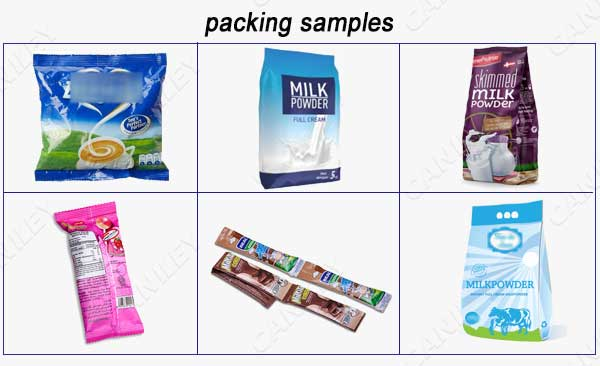 milk powder packing samples