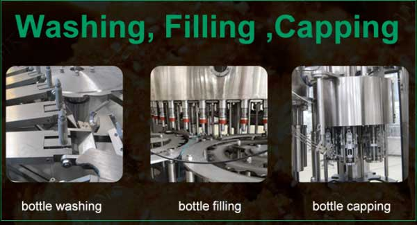 Automatic filling and capping amchine