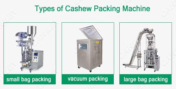 types of cashew packing machine