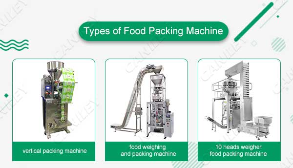 Types of food packing machines