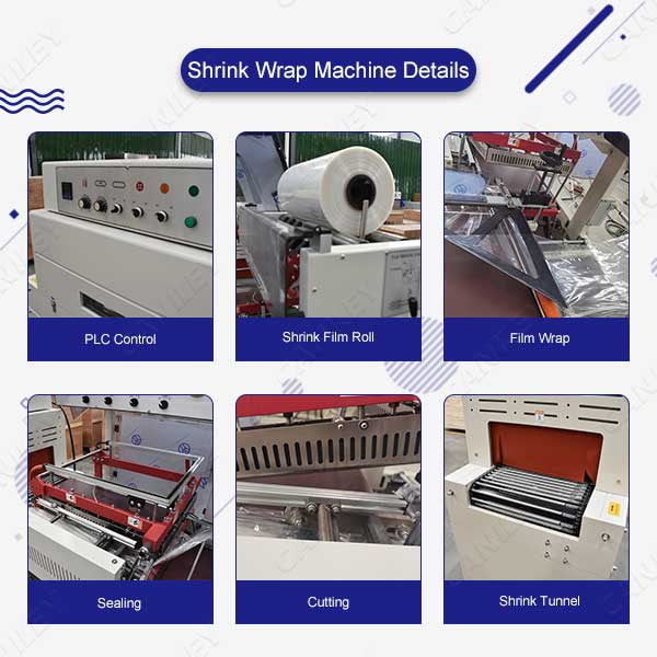 Carton shrink wrapping machine details
