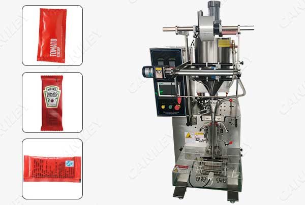 Small tomato sauce pouch packing machine