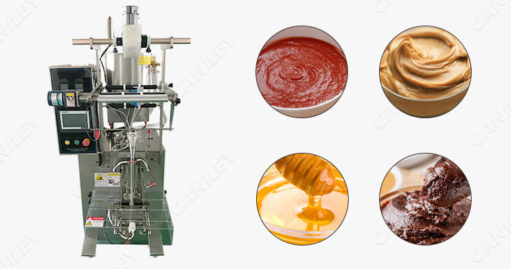 Vertical packing machine for sauce