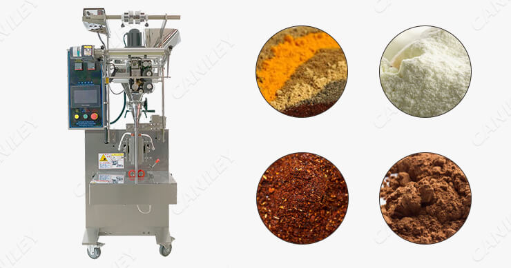 Vertical packing machine for powder