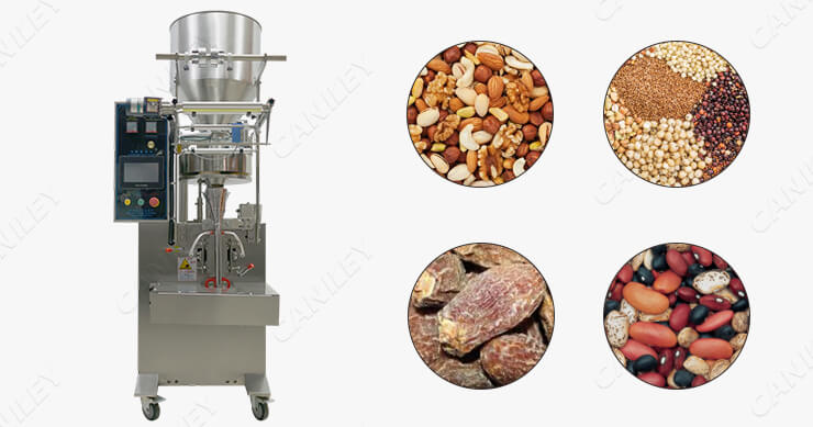 Vertical packing machine for grain